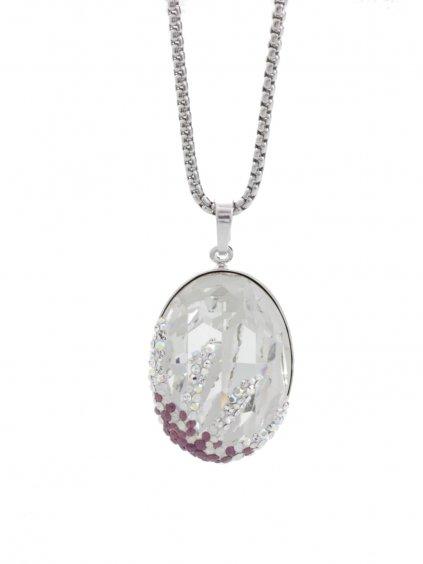 Náhrdelník Ovál s hvězdicí s kameny Swarovski® Crystal