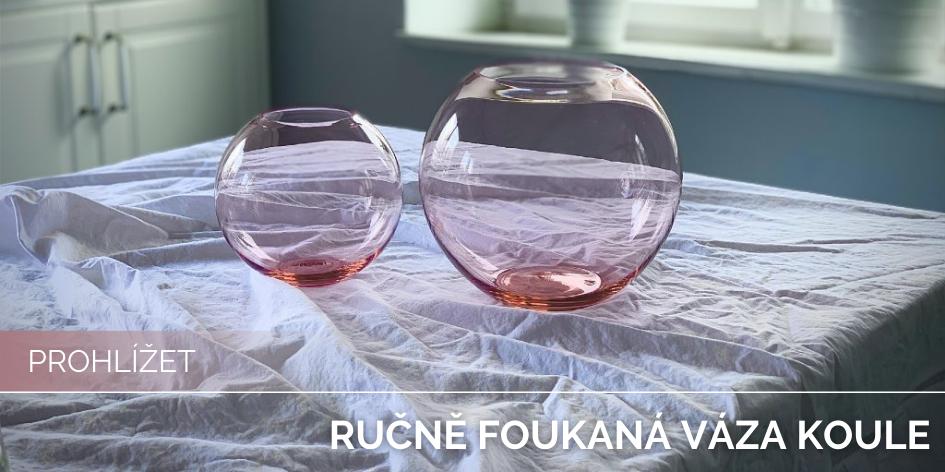 Ručně foukaná váza Koule