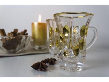 Dekorovaný skleněný hrnek na čaj Praha