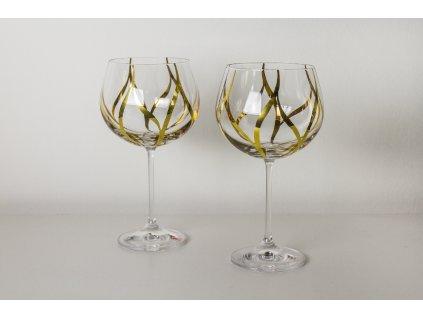 Křišťálové sklenice na víno Leaf