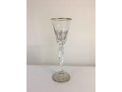 Dekorované sklenice na likér Pavučinka půlka