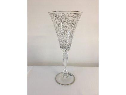 Dekorované sklenice na víno 190ml Pavučinka celá