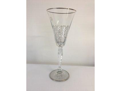 Dekorované sklenice na víno 230ml Pavučinka půlka