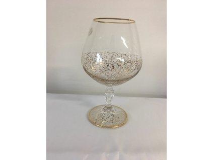 Dekorované sklenice na koňak Pavučinka půlka