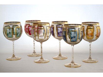 Set šesti sklenic na víno