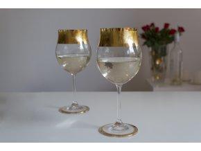 Sklenice na víno Crackle