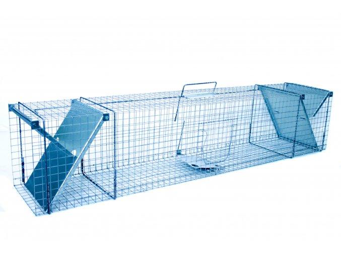 Sklopec 122x29x31 se dvěma vstupy - Na lišky, kuny, kočky, tchoře, lasice