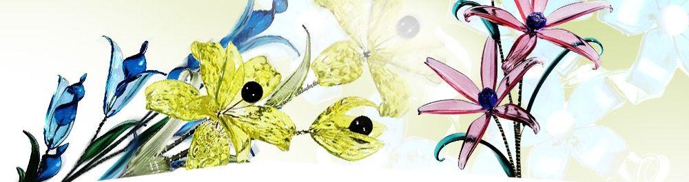 Skleněné kytky
