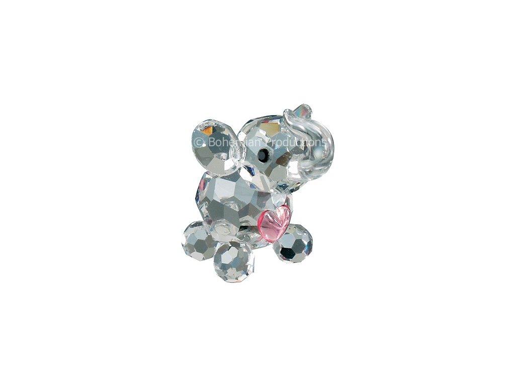 Skleněné figurky Sloni a slůňátka