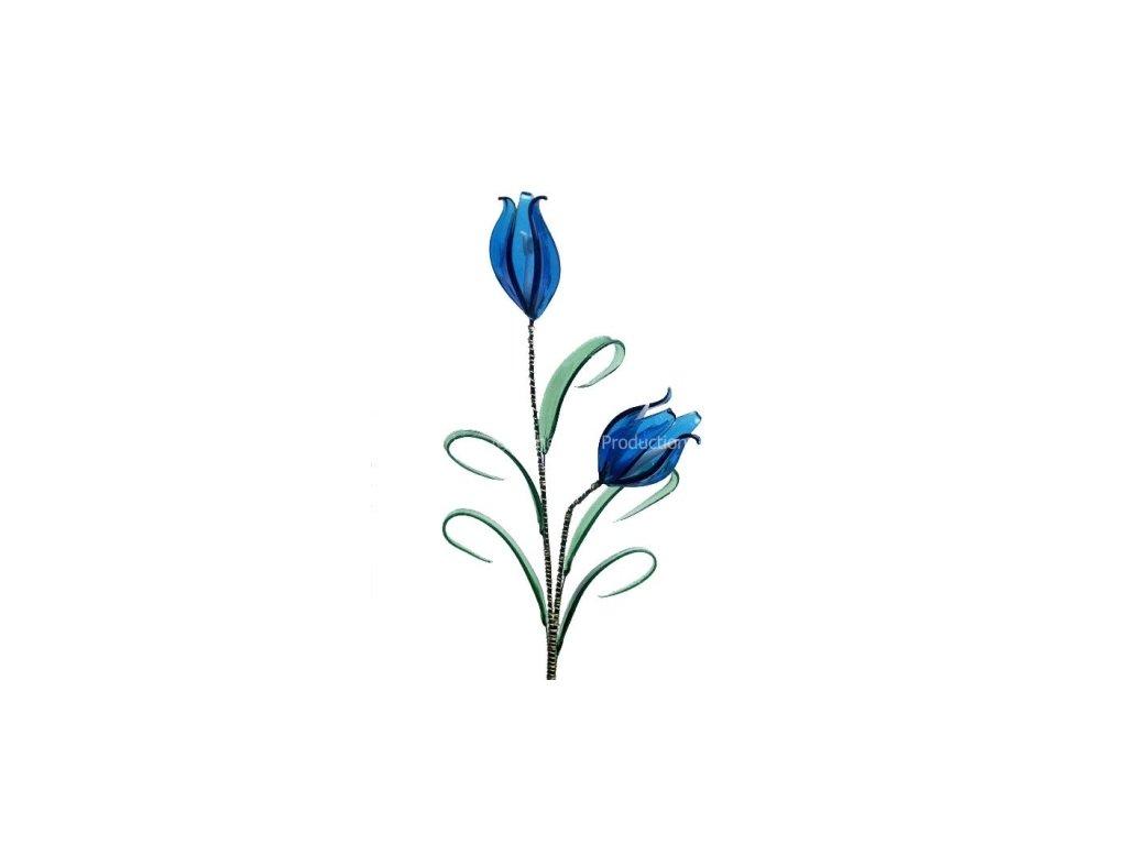 Skleněné květiny střední velikosti