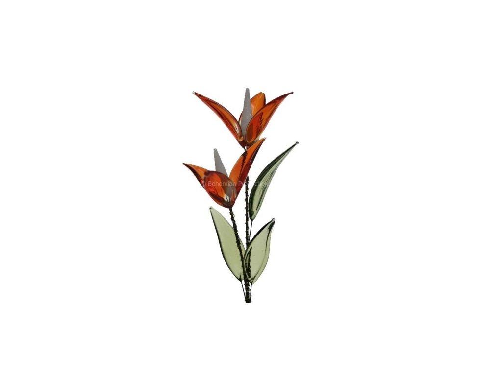 Skleněné květiny malé