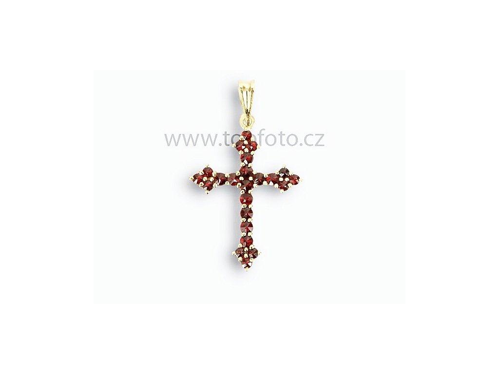 Český granát Přívěsky Křížky Kříže