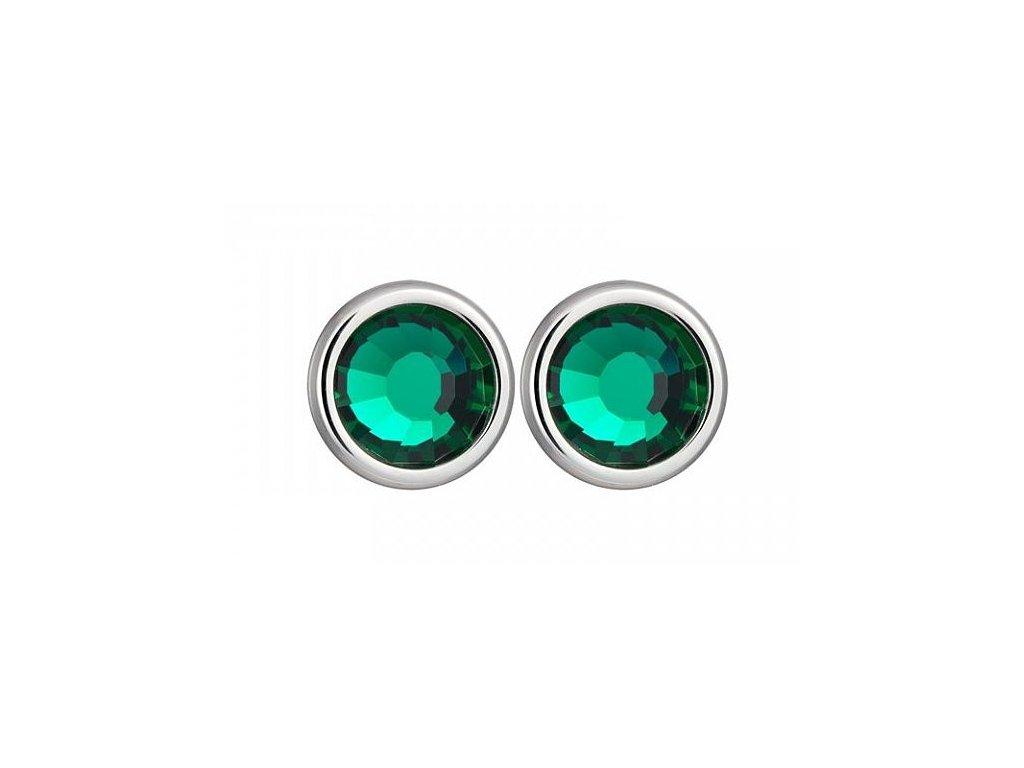 Náušnice chirurgická ocel Carlyn v zelené barvě od firmy Preciosa