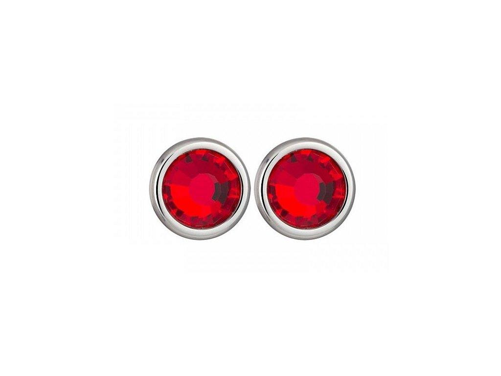 Náušnice chirurgická ocel Carlyn v červené barvě od firmy Preciosa
