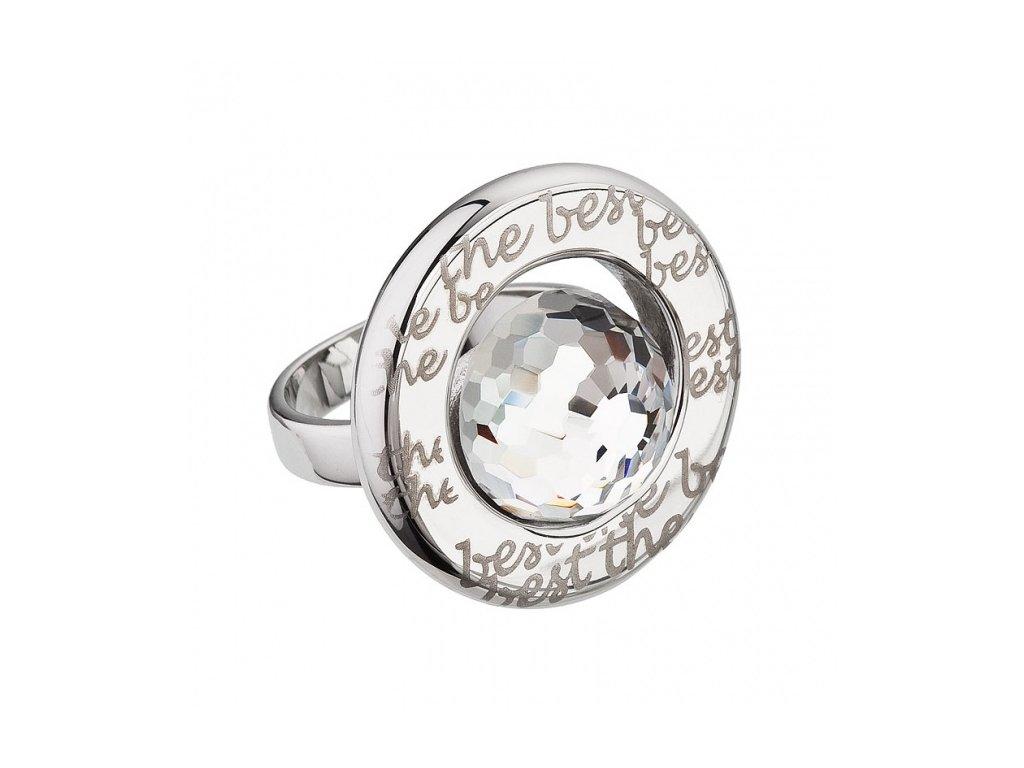 Prsten chirurgická ocel Beryl v křišťálové barvě od firmy Preciosa