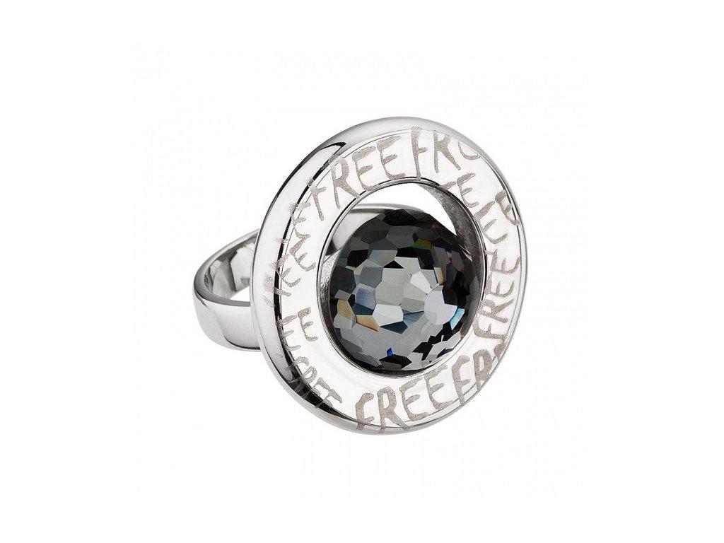 Prsten chirurgická ocel Beryl v šedé barvě od firmy Preciosa
