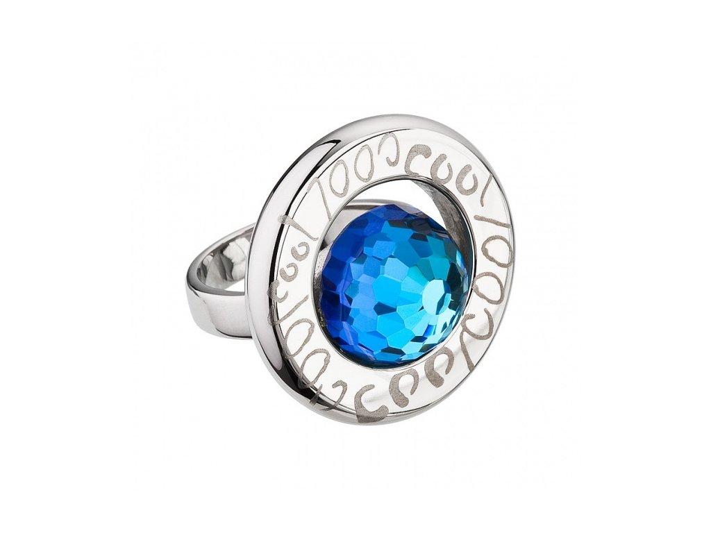 Prsten chirurgická ocel Beryl v modré barvě od firmy Preciosa