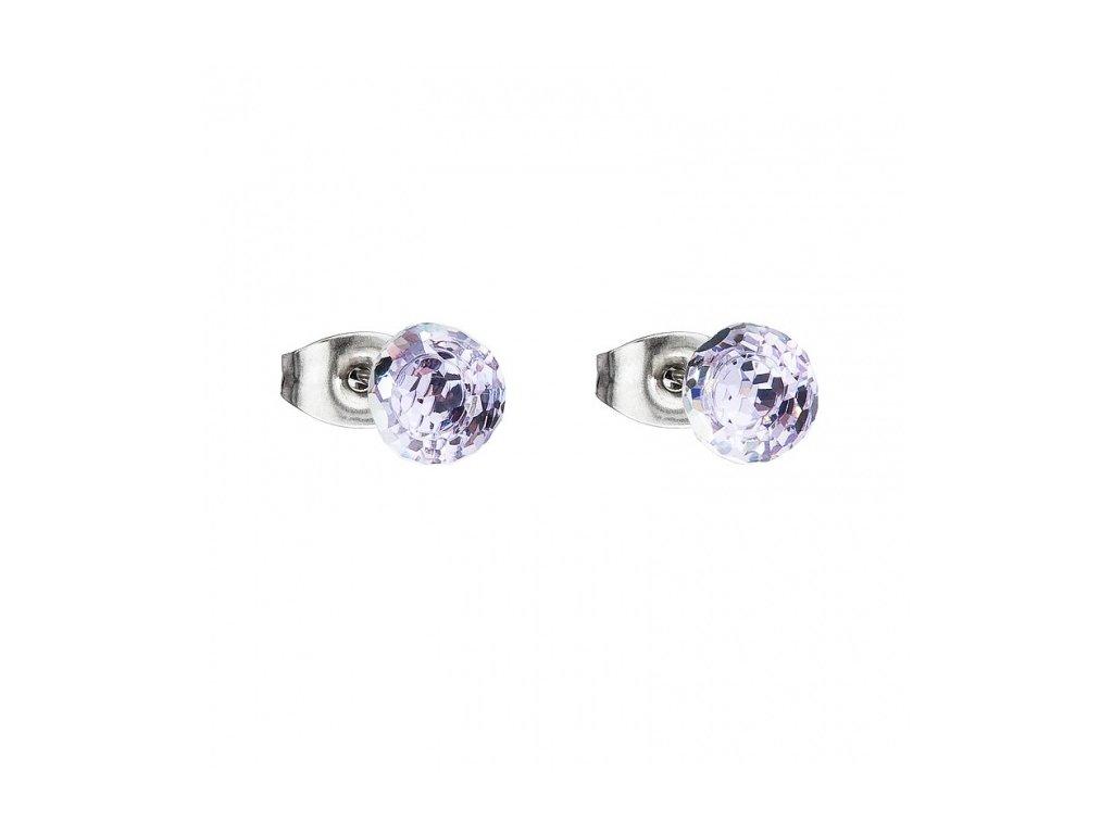 Náušnice z broušeného skla Ivy ve fialové barvě od firmy Preciosa