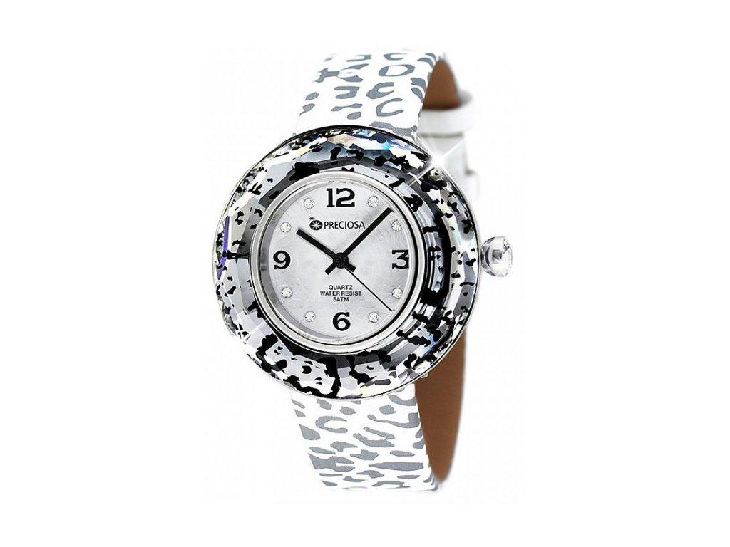 Dámské hodinky Preciosa Crystal Time Modern v křišťálové barvě
