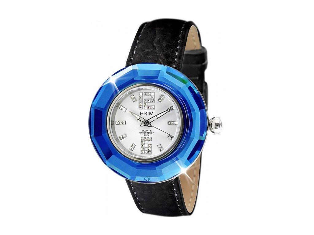 Dámské hodinky Crystal Time v modré barvě Preciosa