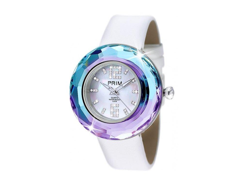 Dámské hodinky Luxury Crystal Time v odstínech duhy Preciosa