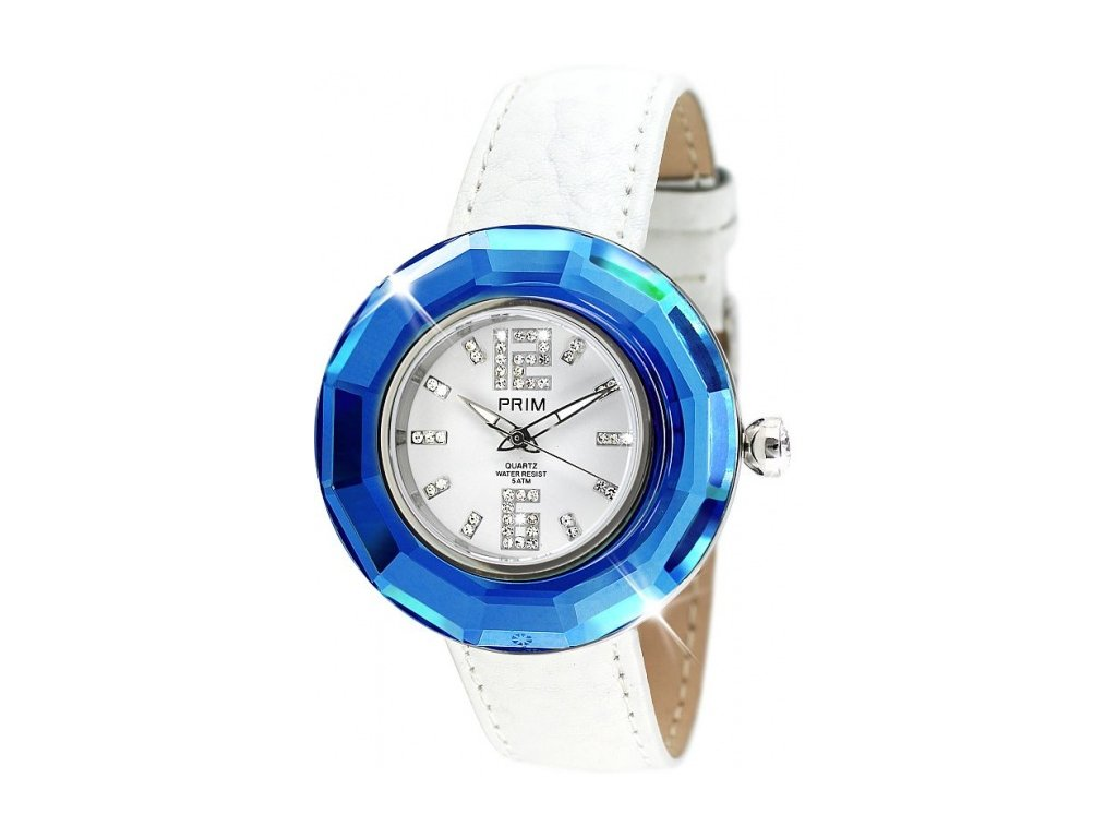 Dámské hodinky Time v modré barvě Preciosa