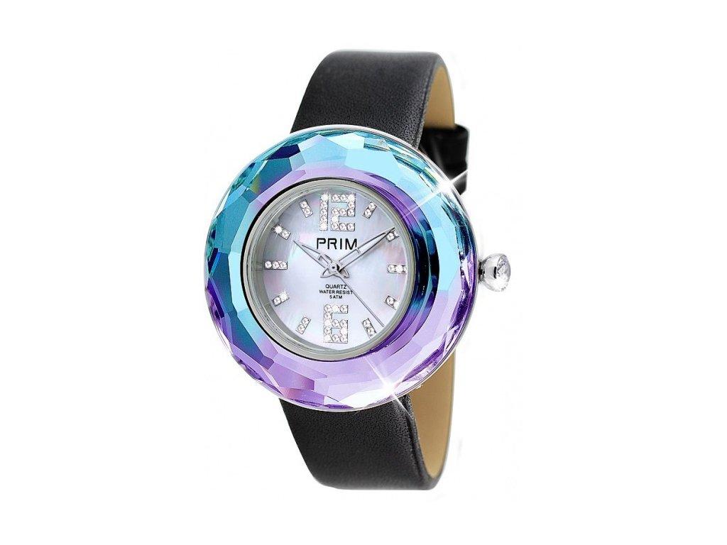 Dámské hodinky Luxury Crystal Time II v odstínech duhy Preciosa