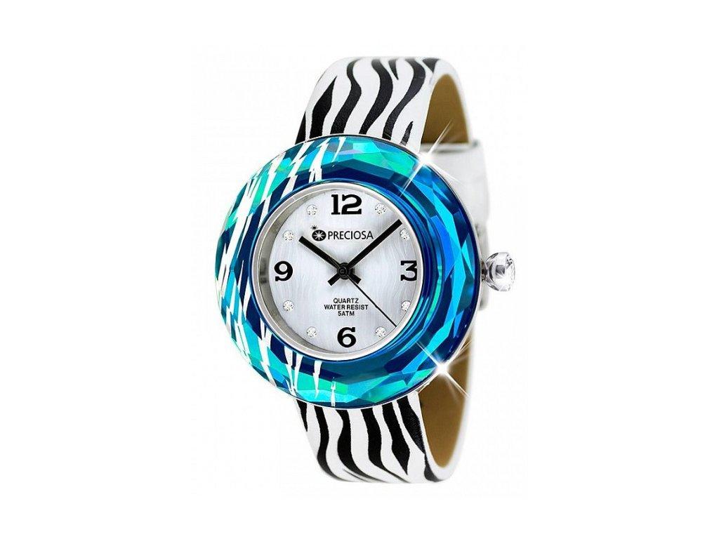 Dámské hodinky Preciosa Crystal Time Modern v modré barvě