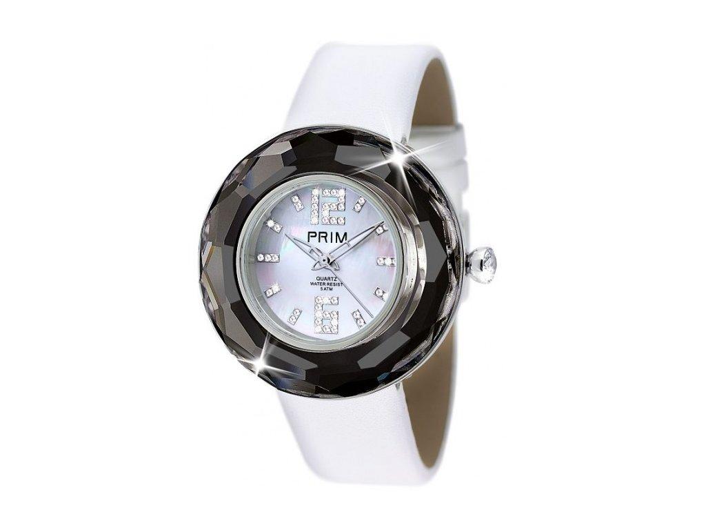 Dámské hodinky Crystal Time Premium v černé barvě Preciosa