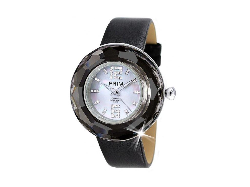 Dámské hodinky Crystal Time Premium II v černé barvě Preciosa