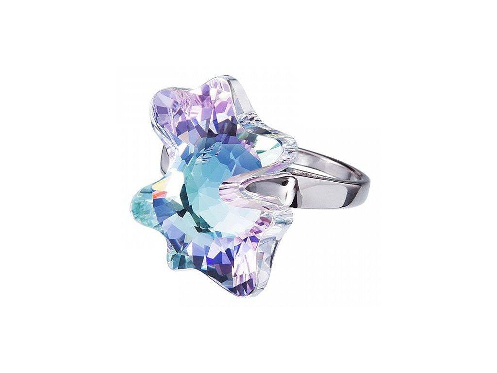 Stříbrný prsten Magic Butterfly v odstínech duhy Crystal AB od firmy Preciosa