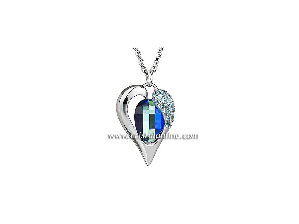 Přívěsek z broušeného skla Verity v modré barvě od firmy Preciosa ... 55a746c40b