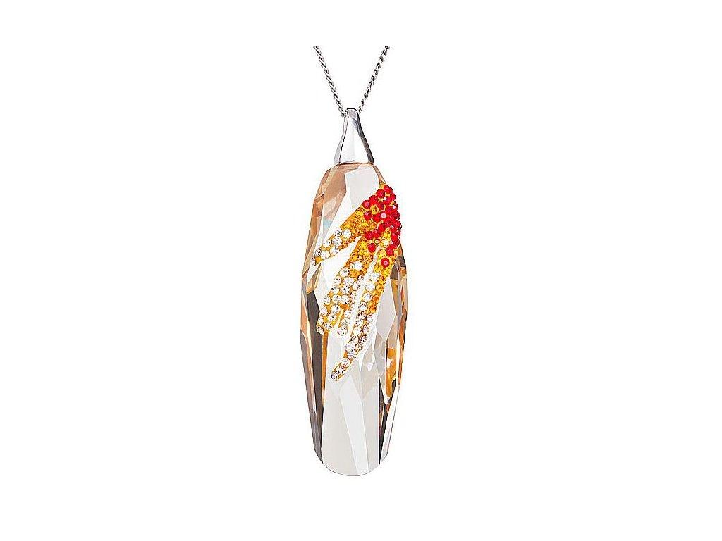 Přívěsek z broušeného skla Perfectionne ve světle červené barvě od firmy Preciosa