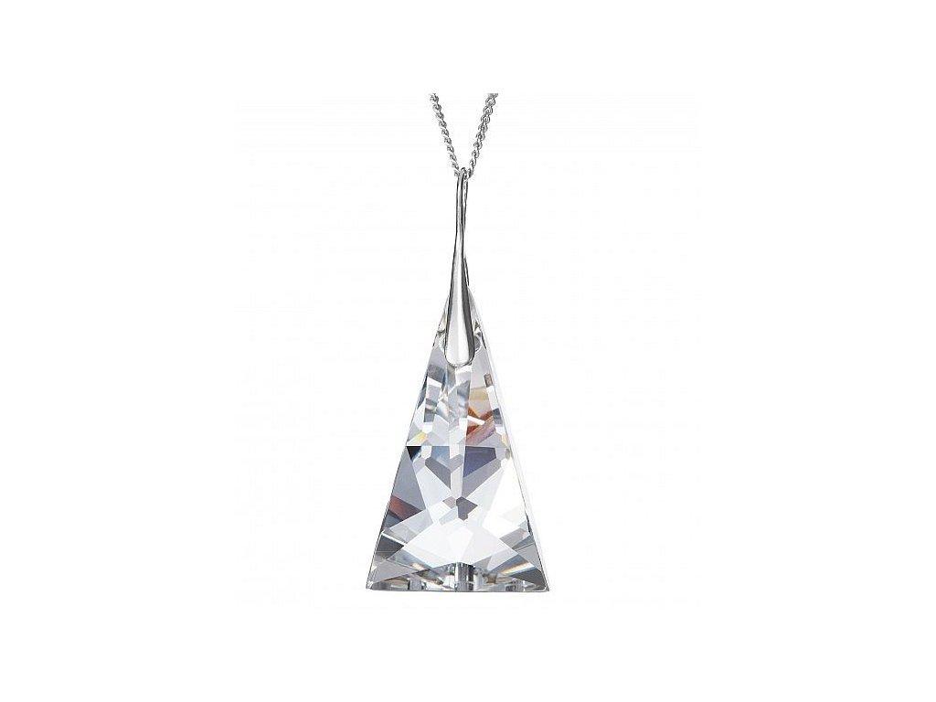 Přívěsek z broušeného skla Crystal Pyramid v křišťálové barvě od firmy  Preciosa c0812ff97a