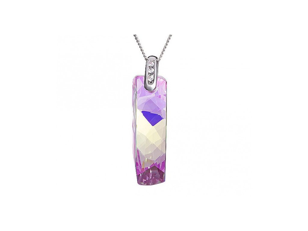 Přívěsek z broušeného skla Melody of Nature v barvě fuksia od firmy Preciosa