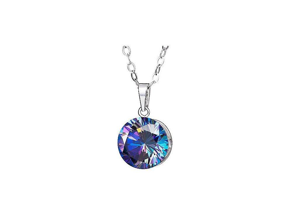 Přívěsek z broušeného skla Starry v modré barvě od firmy Preciosa