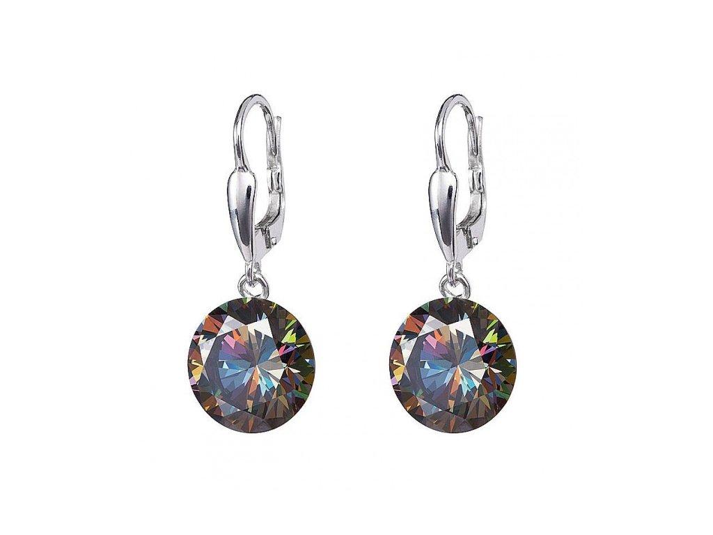 Náušnice z broušeného skla Starry v barvě duhy Vitrail Medium od firmy Preciosa