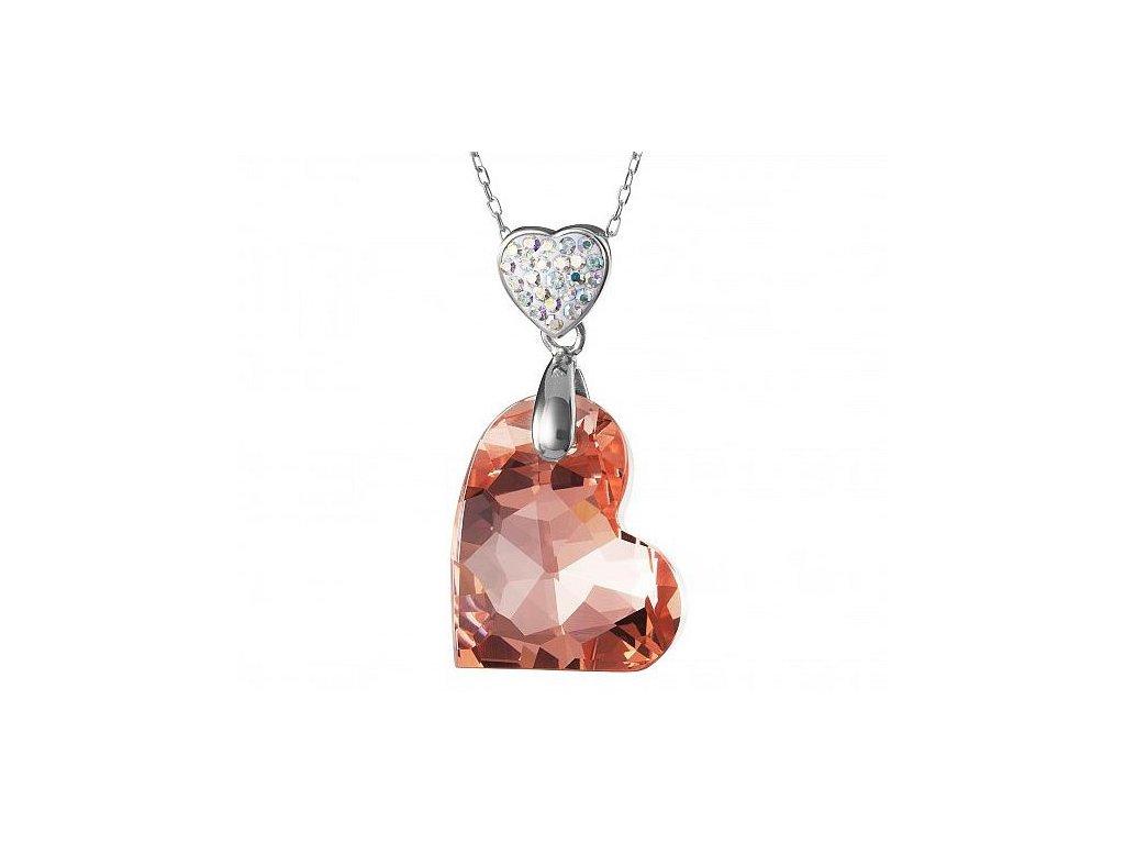 Přívěsek z broušeného skla WIld Heart v meruňkové barvě od firmy Preciosa