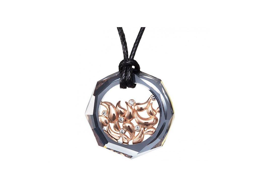 Přívěsek z broušeného skla Marthe v chromové barvě od firmy Preciosa