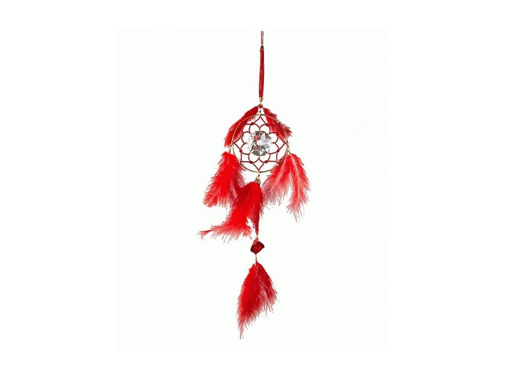 Lapač snů z broušeného křišťálu Sklo Bohemia  Životní energie - dlouhý