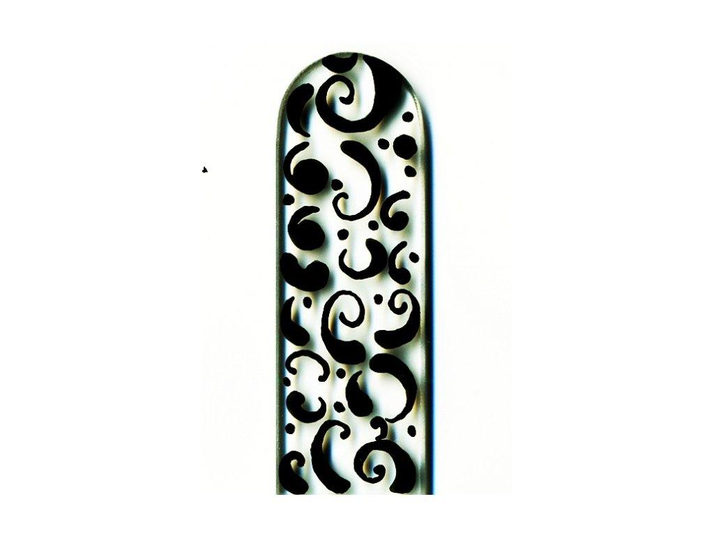 Skleněný pilník na nehty ručně malovaný profesionální manikúra - Černý orient