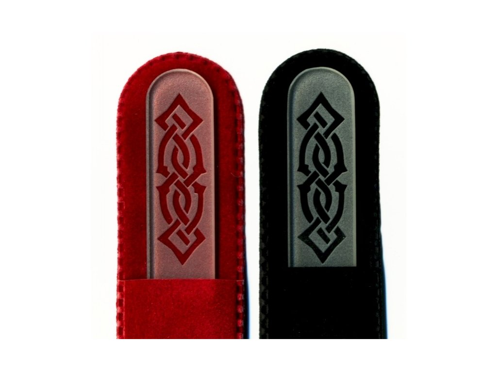 Skleněný pilník na nehty pískovaný 135 mm - Orient - ledový design