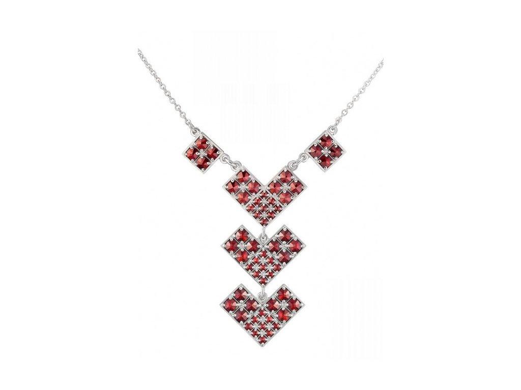 Český granát  Luxusní náhrdelník 19