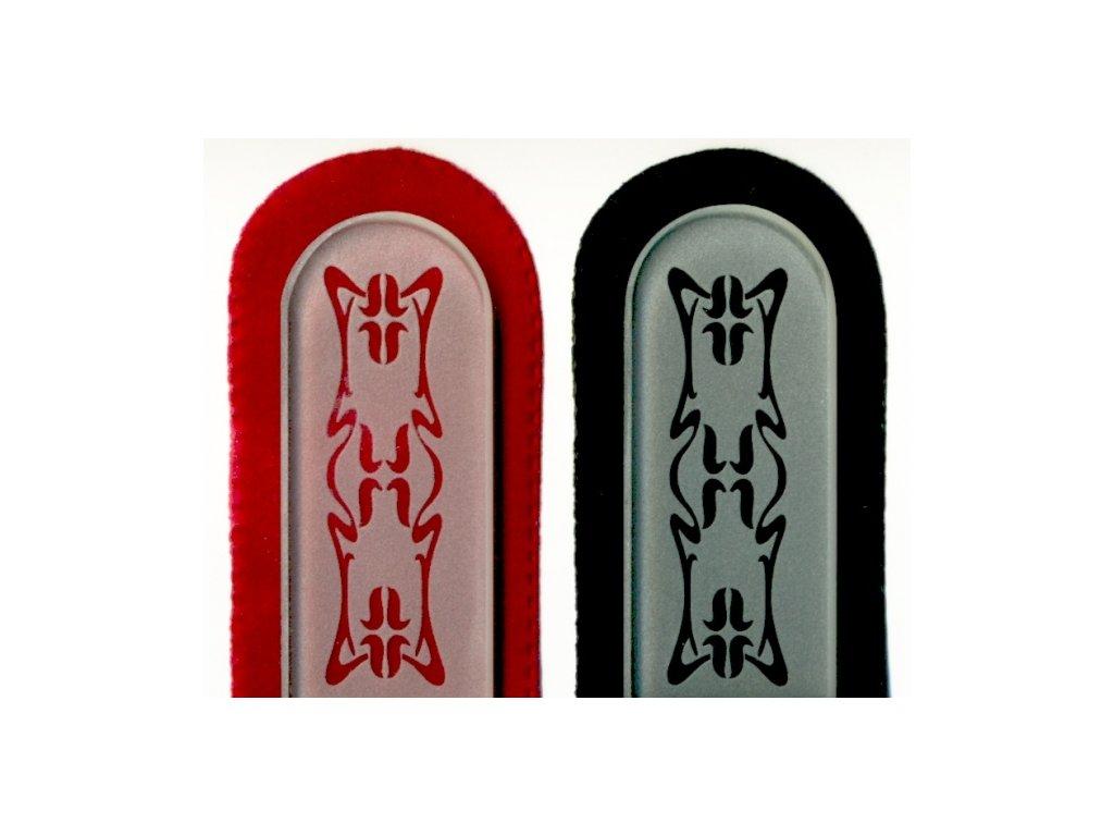 Skleněný pilník na nehty pískovaný pedikúra - Art Noveau - ledový design