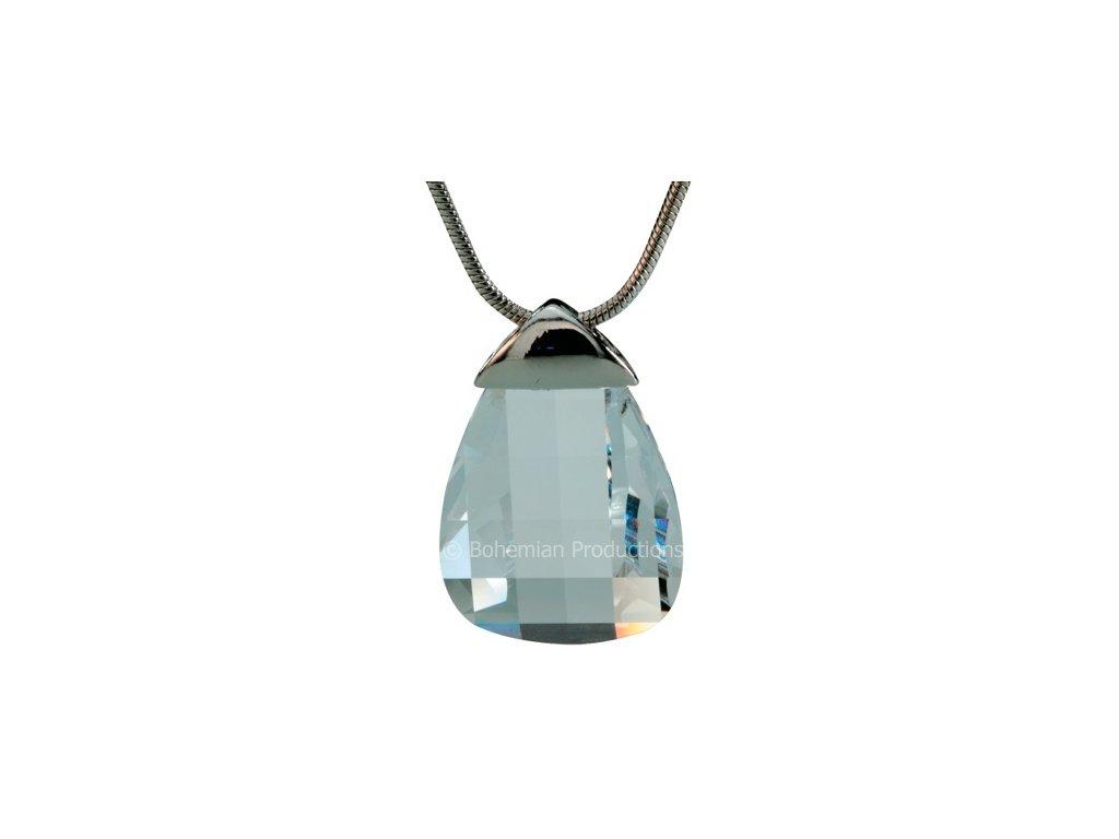 Přívěsek z broušeného skla Kate v křišťálové barvě od firmy Preciosa