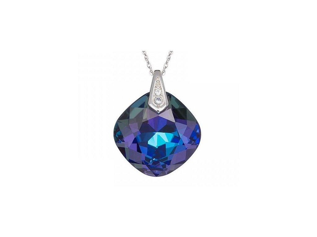 Stříbrný přívěsek Brilliant Rose v modré barvě od firmy Preciosa