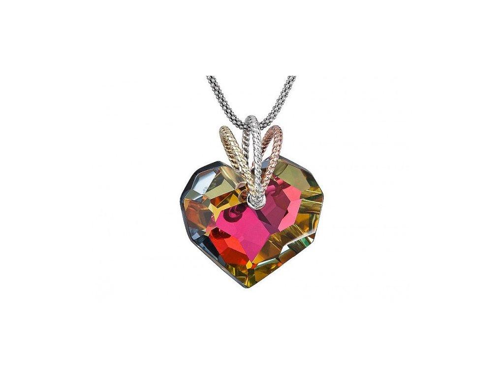 Přívěsek z broušeného skla Cherissant v odstínu barev od firmy Preciosa