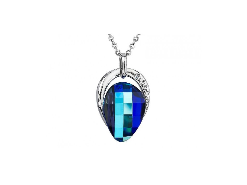 Přívěsek z broušeného skla Delicatesse v modré barvě od firmy Preciosa
