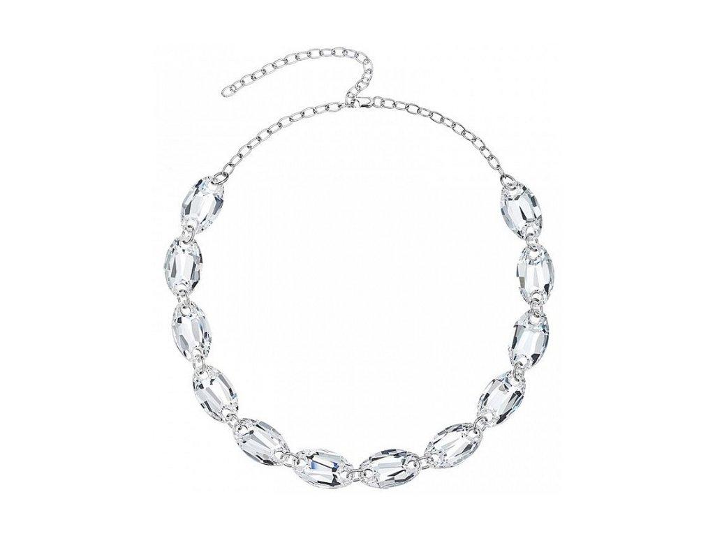 Stříbrný náramek Elegancy v křišťálové barvě od firmy Preciosa
