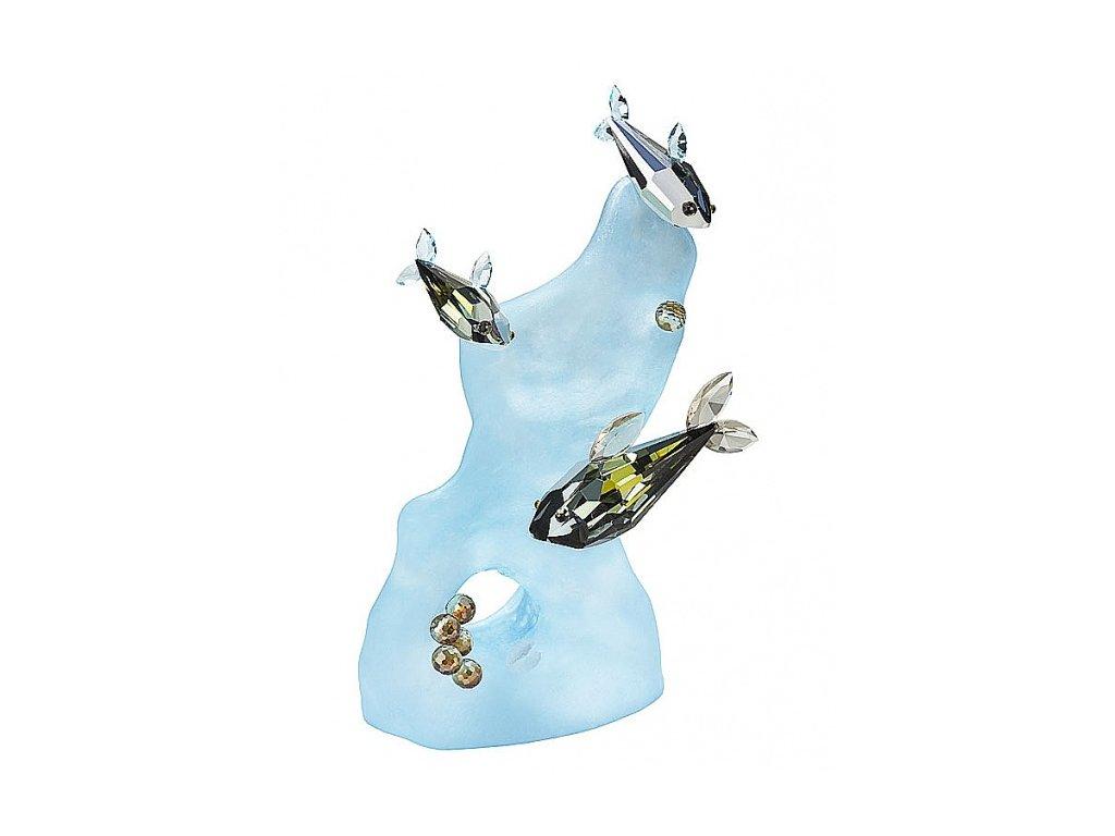 Skleněná figurka z broušeného křišťálu Sklo Bohemia - Mořský svět (modrý)